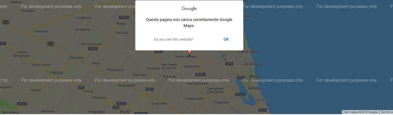 [Risolto] Problema Google Maps sui siti Web 1