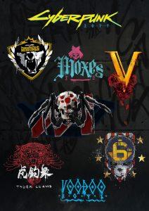 cyberpunk 2077 graffiti gang wallpaper