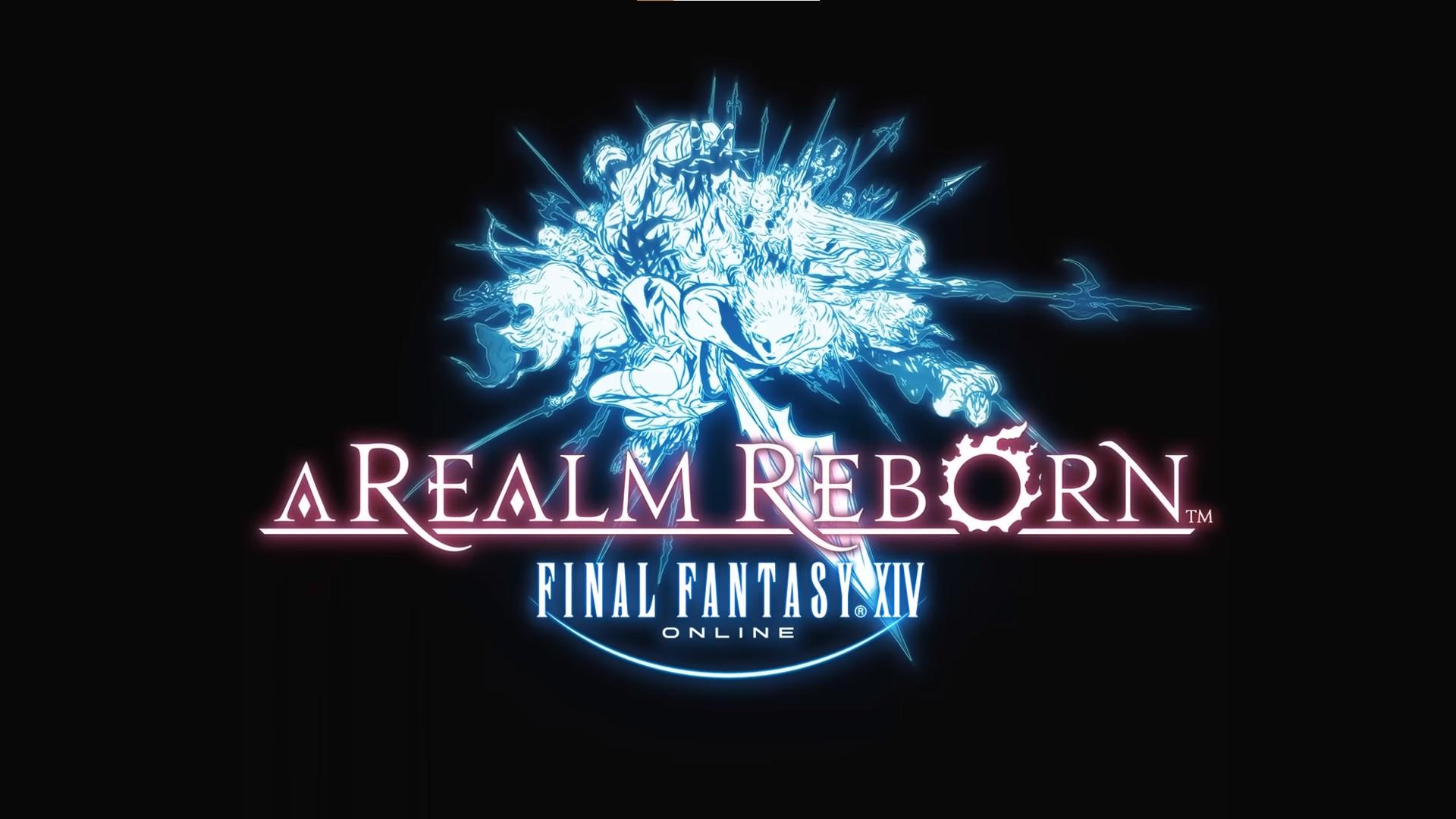 Final Fantasy XIV a realm reborn naoki yoshida wallpaper logo