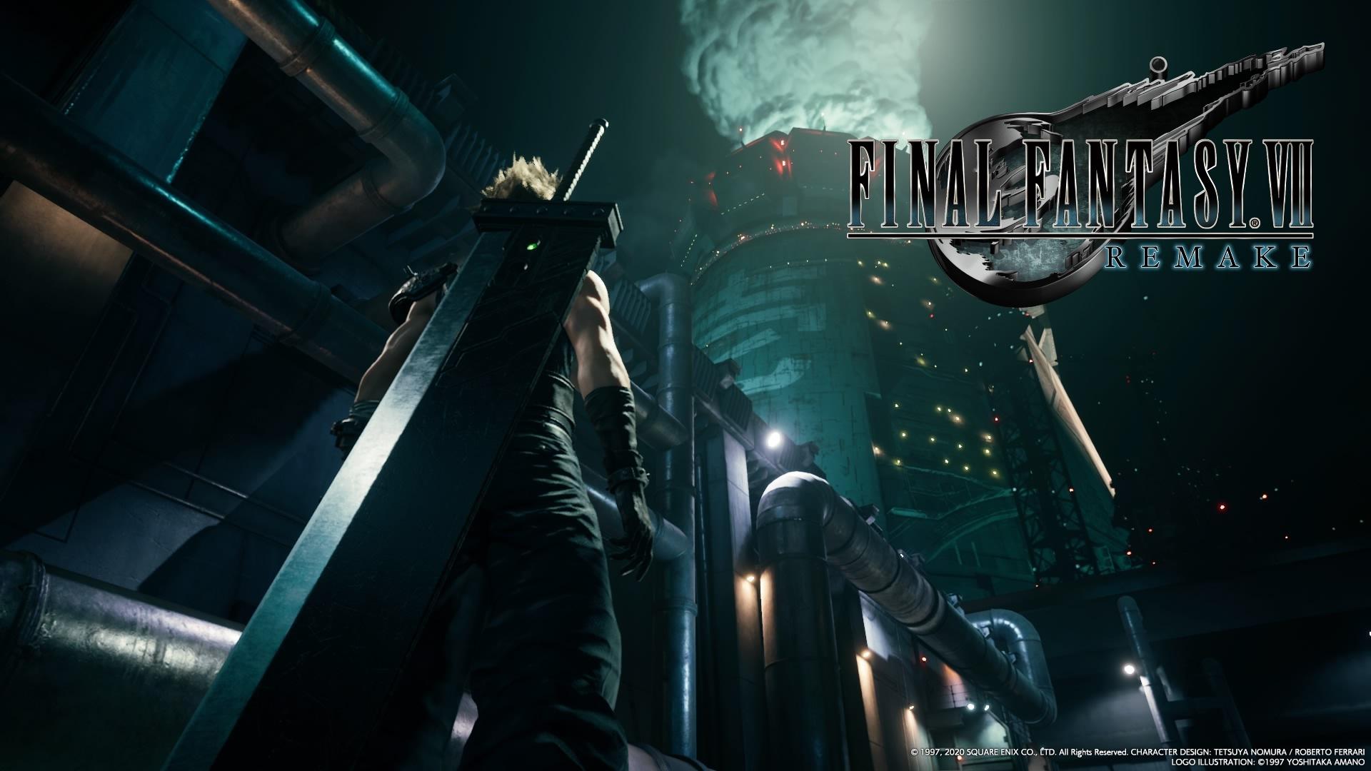 Final Fantasy VII Remake wallpaper screenshot logo