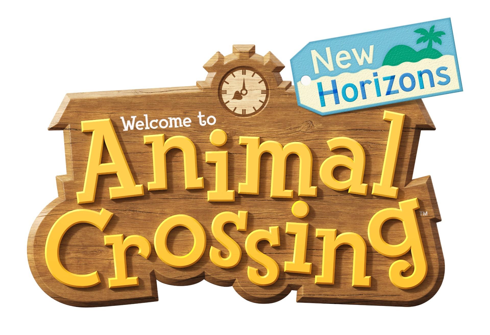 animal crossing: new horizons wallpaper logo