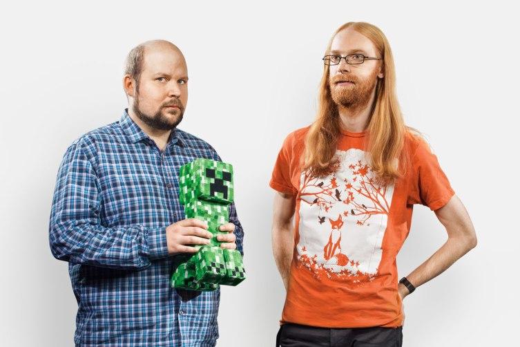 Notch e Jens Bergensten Minecraft gioco della generazione e del decennio