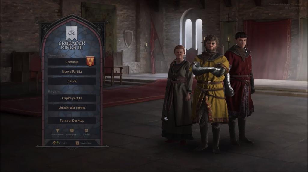Crusader Kings 3 in italiano grazie ad una mod 2