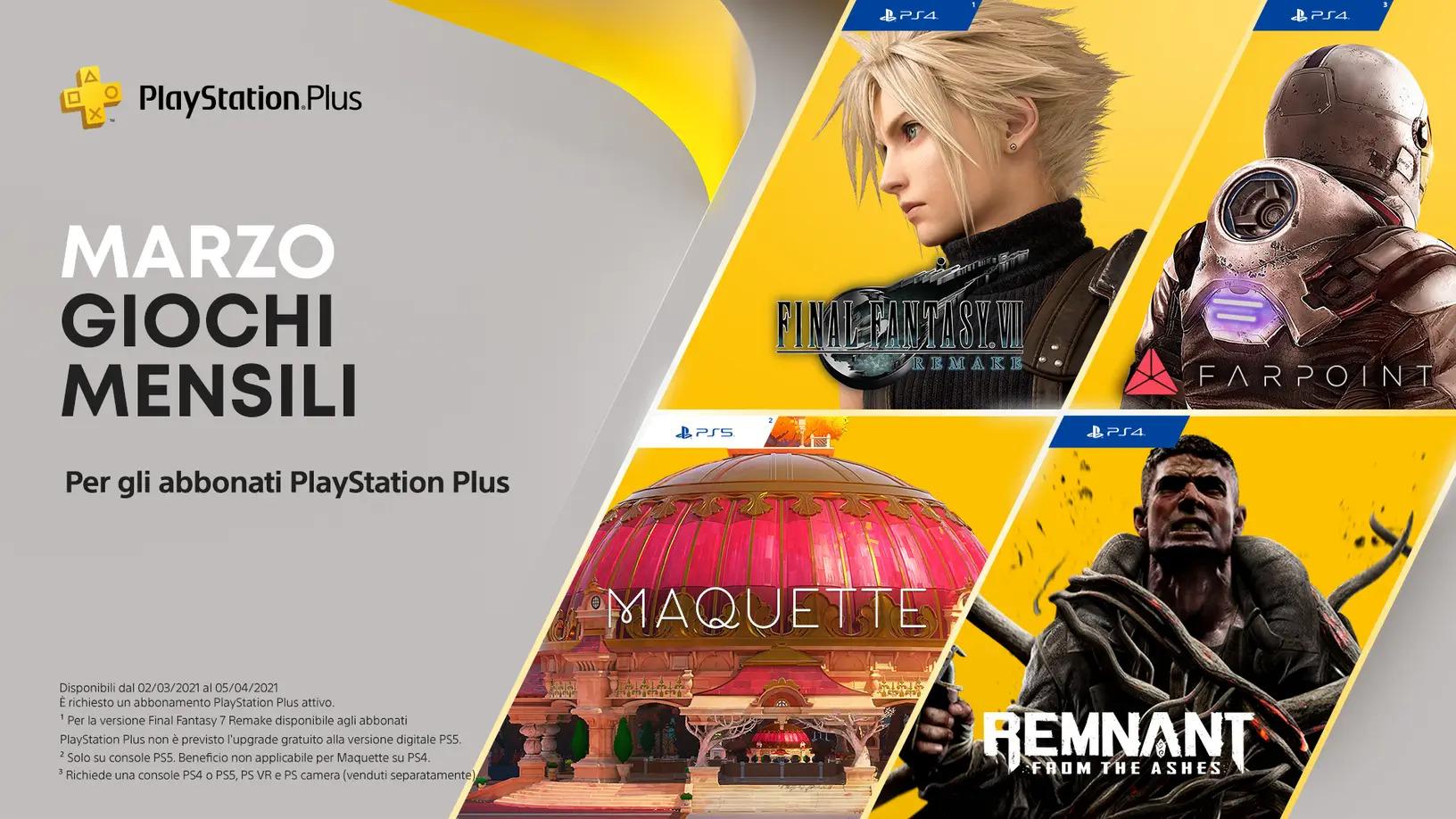 PS Plus marzo 2021: Rivelati ben 4 nuovi giochi gratuiti 1